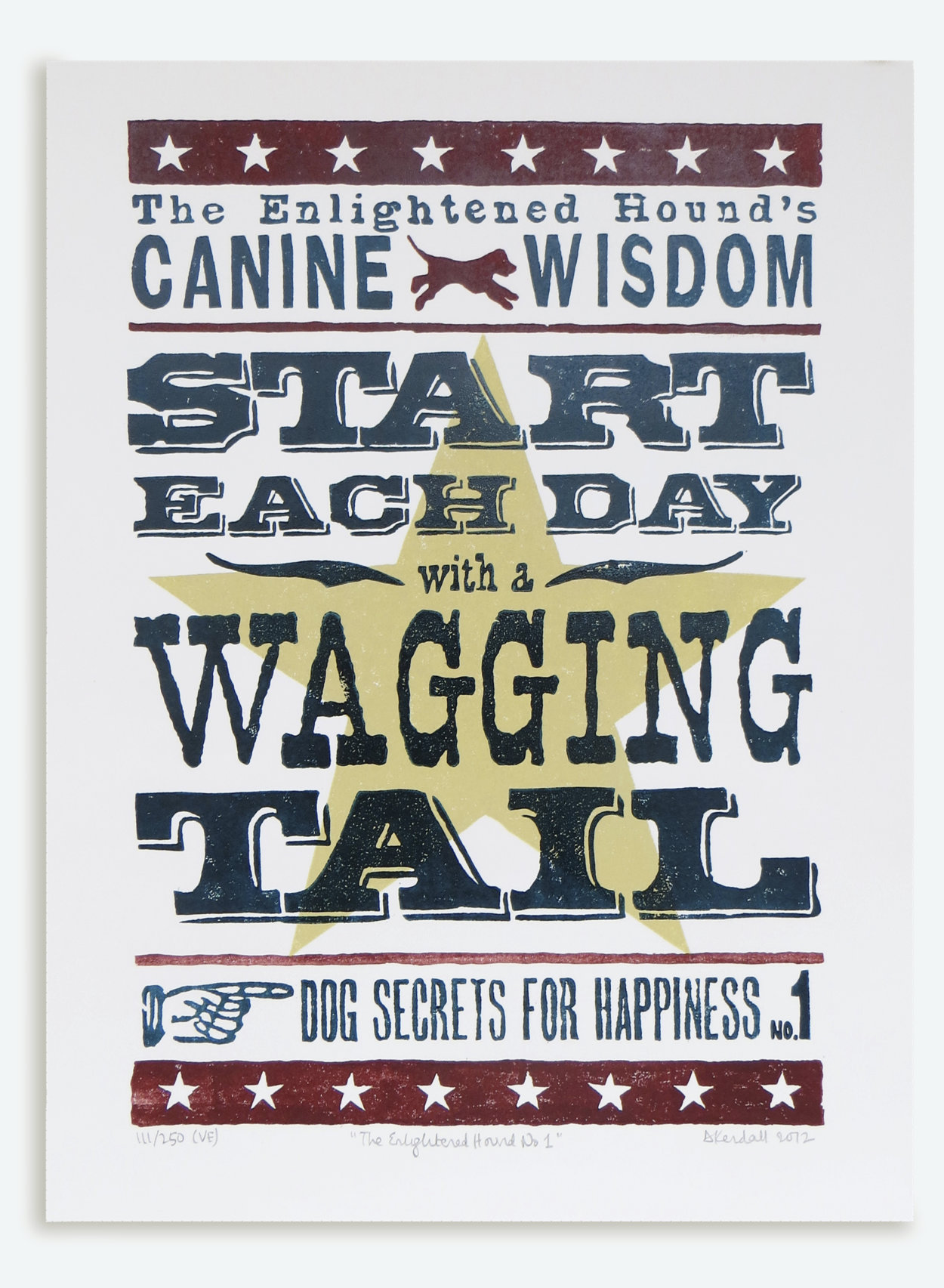 Canine Wisdom dog motto print | The Enlightened Hound