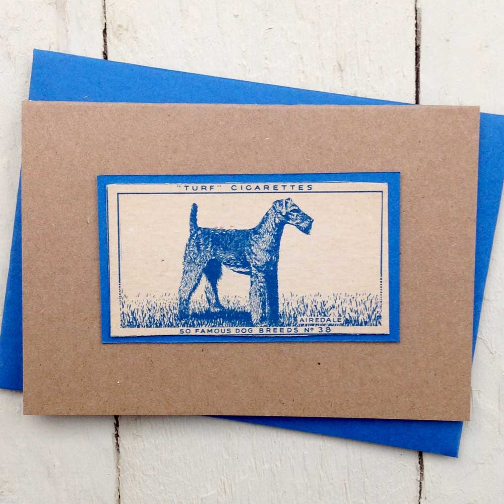 Airedale Terrier Vintage Greeting Card - The Enlightened Hound