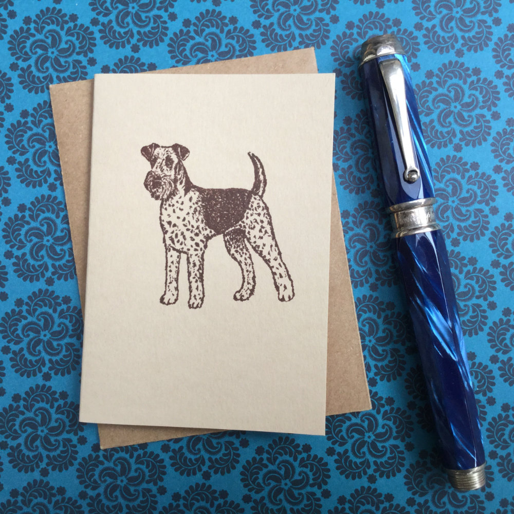 Airedale Terrier Rubber Stamp | The Enlightened Hound