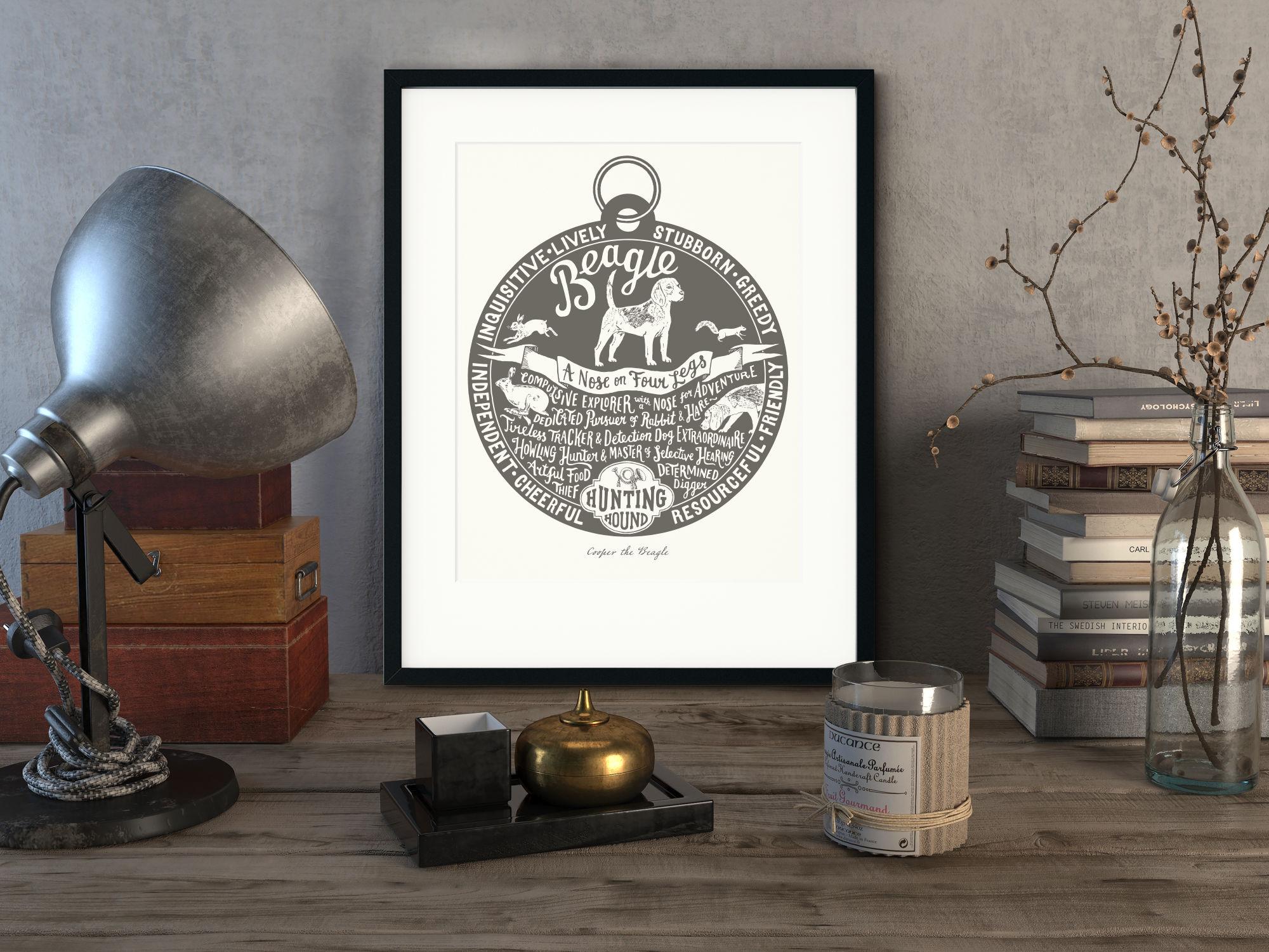 Beagle Art Print | The Enlightened Hound
