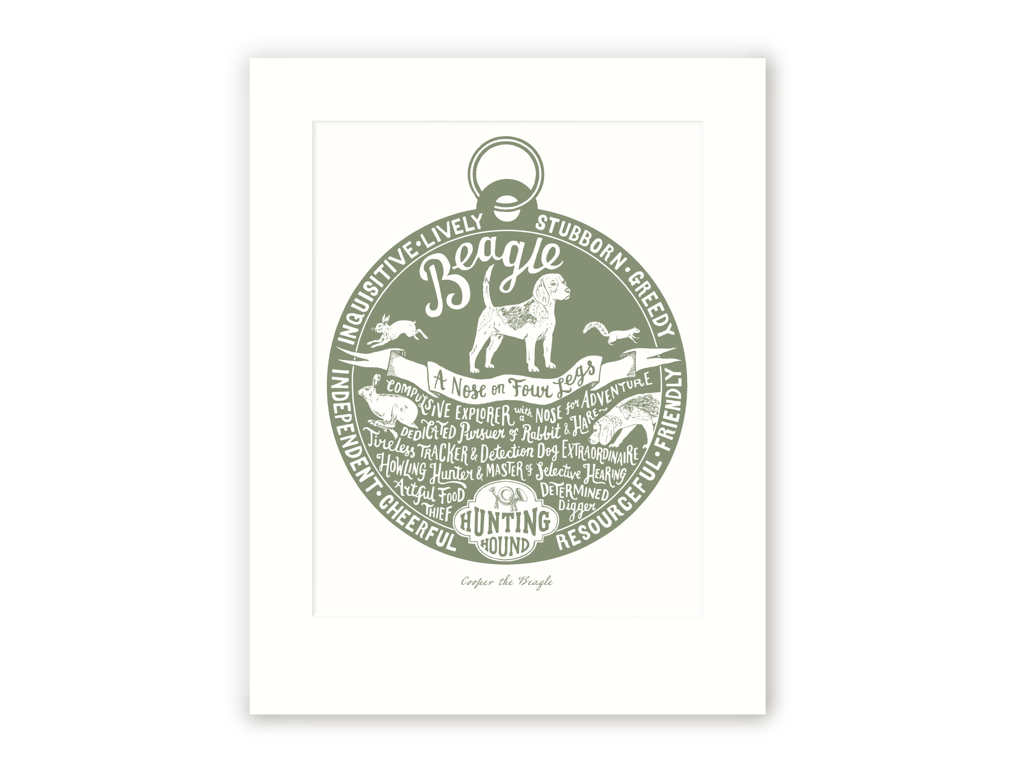Beagle - Personalised Prints for Dog Lovers by The Enlightened Hound