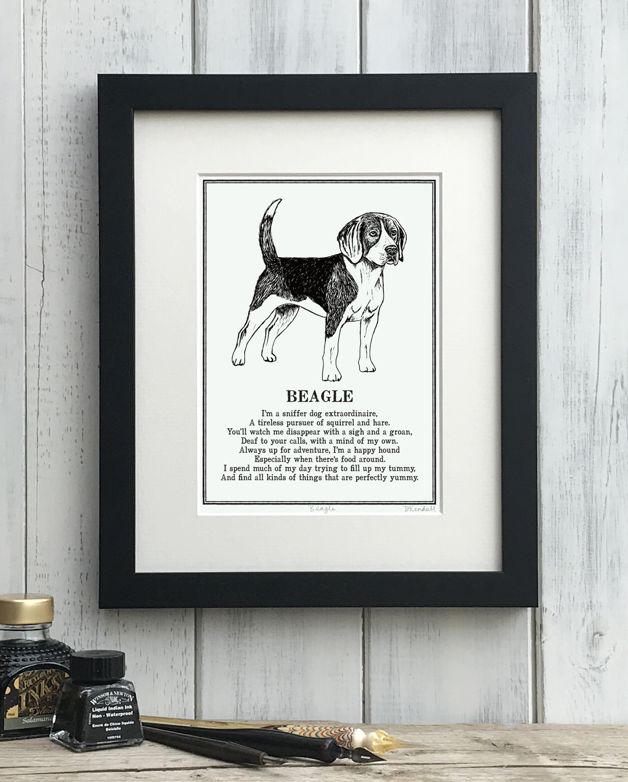Beagle Doggerel Print