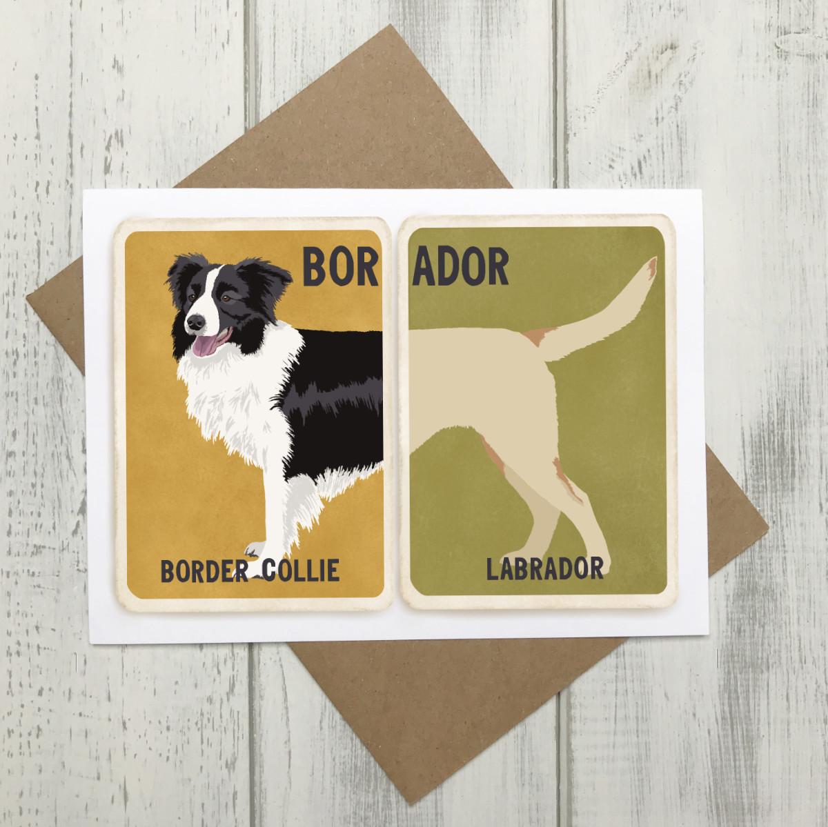 Borador Card - Border Collie Labrador Cross Breed