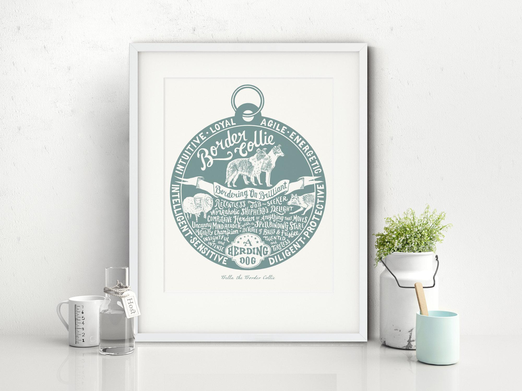Border Collie Art Print | The Enlightened Hound