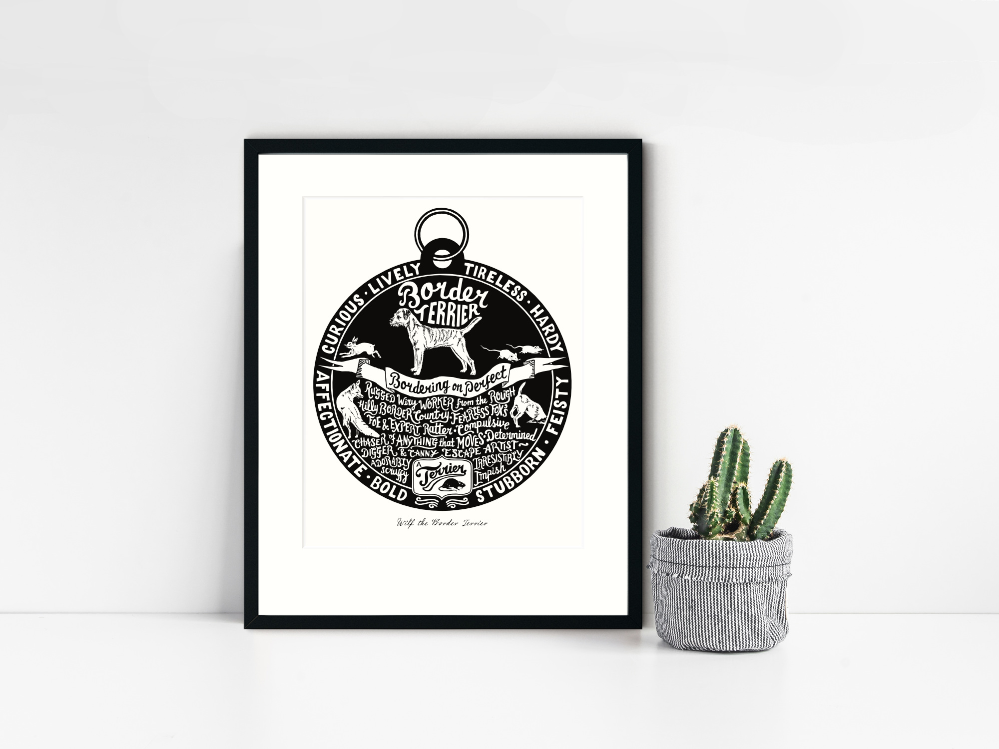 Border Terrier Art Print | The Enlightened Hound