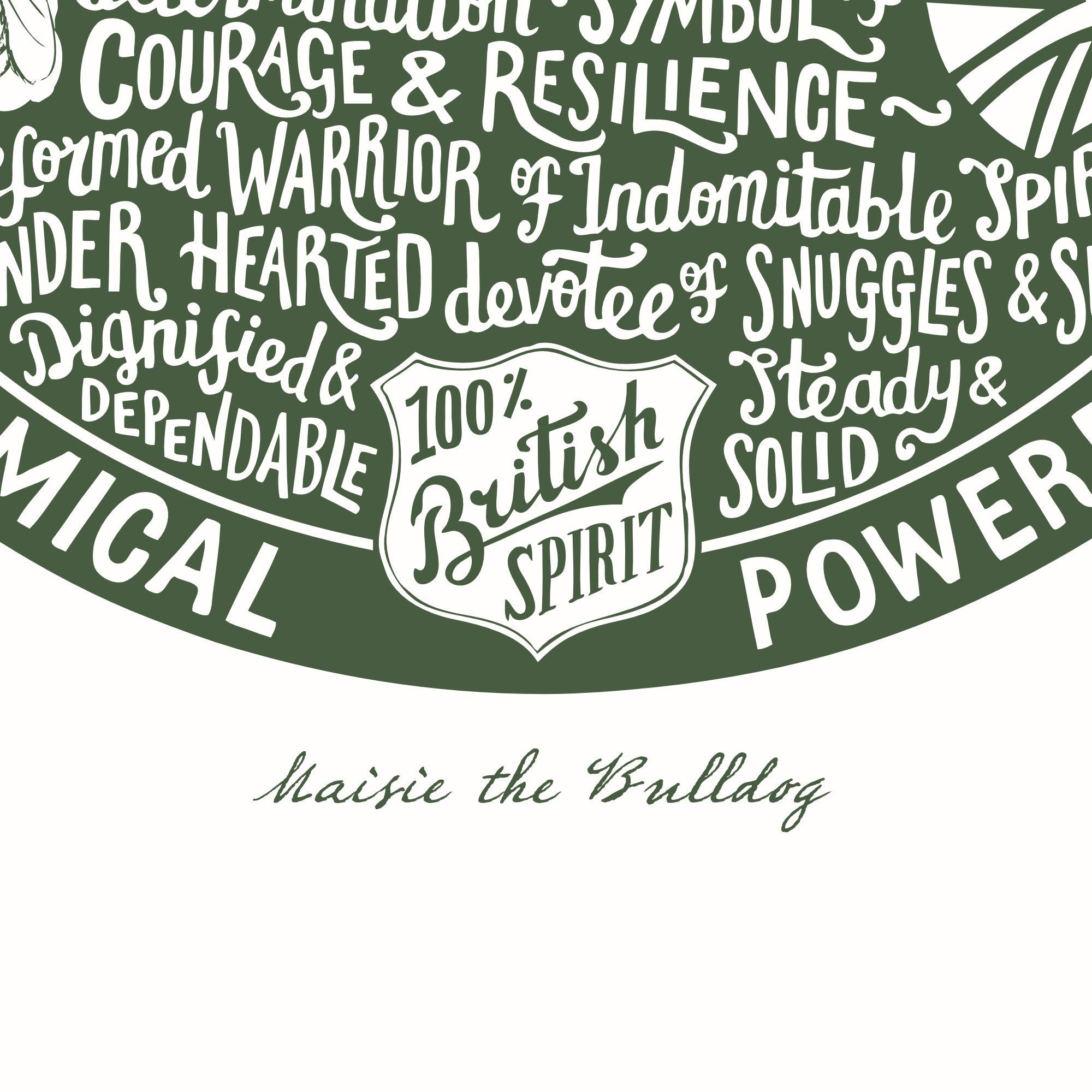 Personalised Bulldog Print | The Enlightened Hound