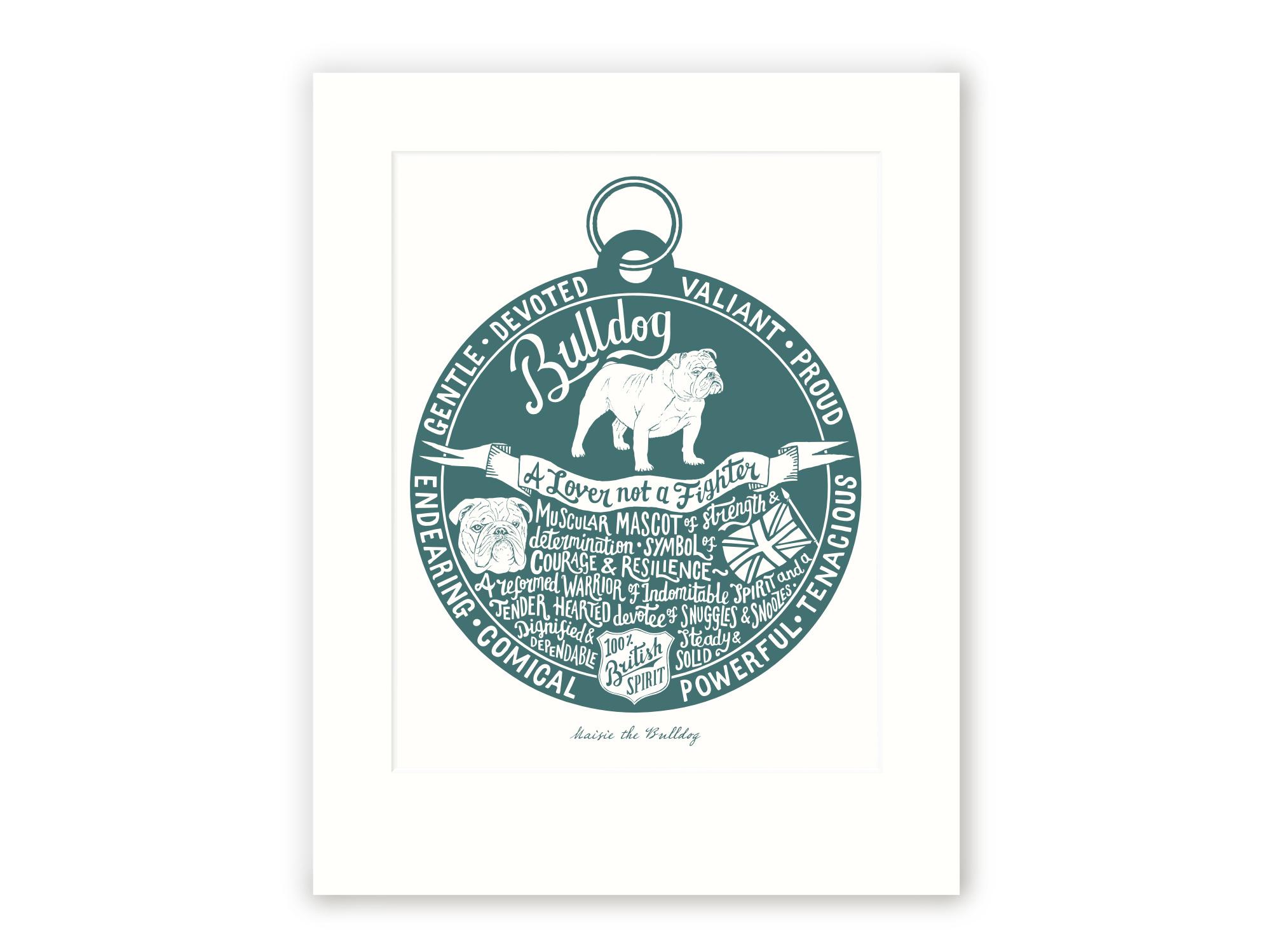 British Bulldog Art Print | The Enlightened Hound