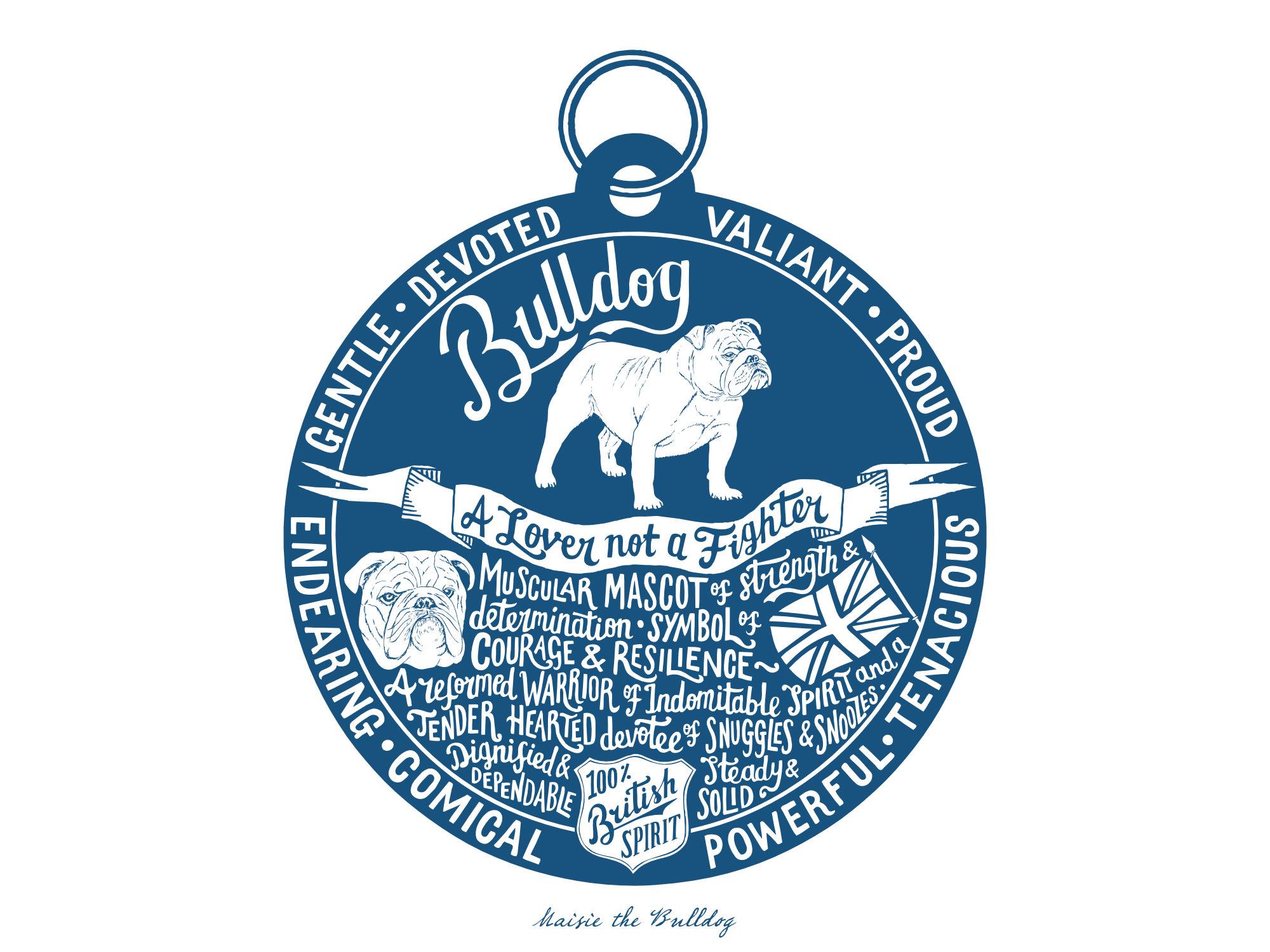 English Bulldog Print Unframed | The Enlightened Hound