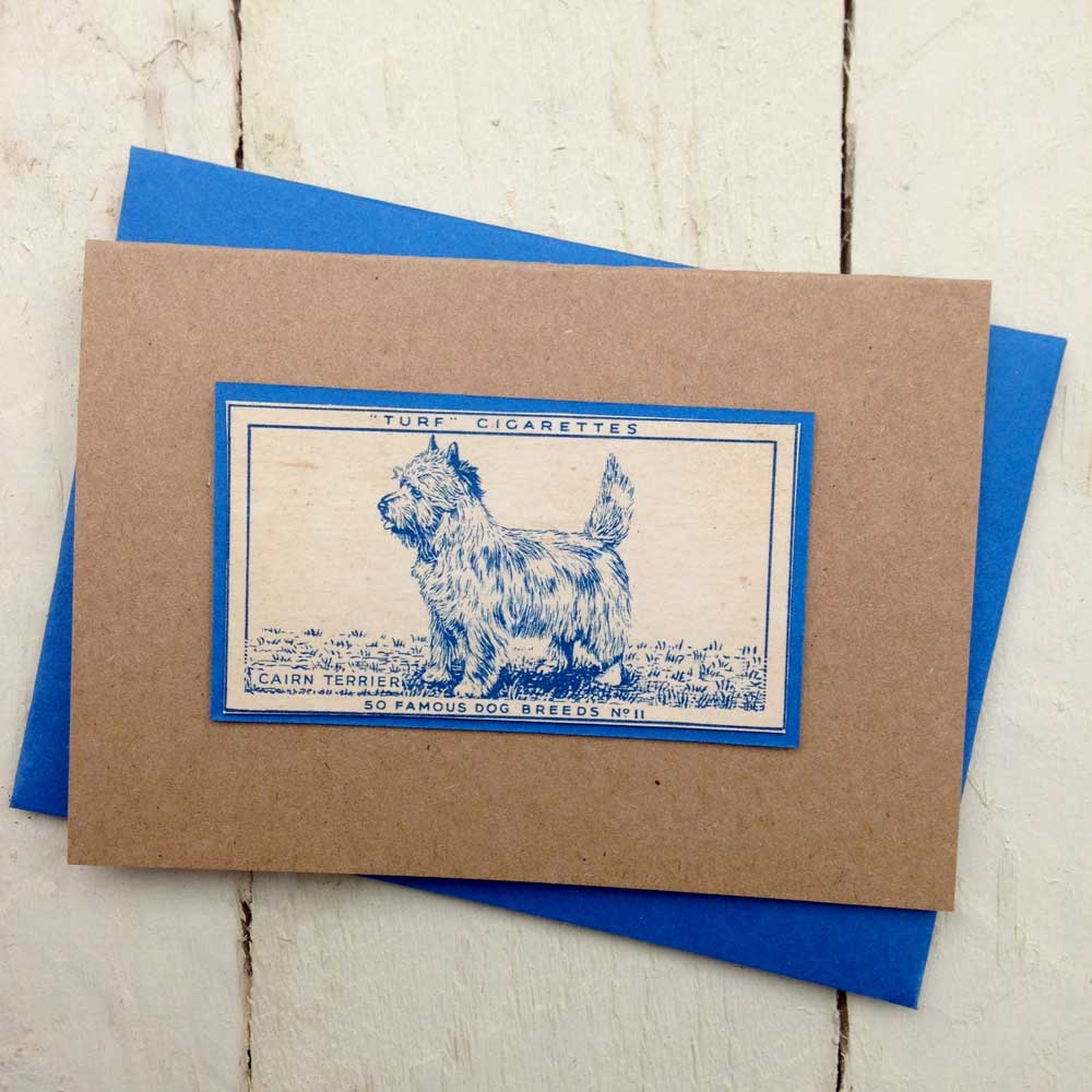 Cairn Terrier Vintage Greeting Card - The Enlightened Hound
