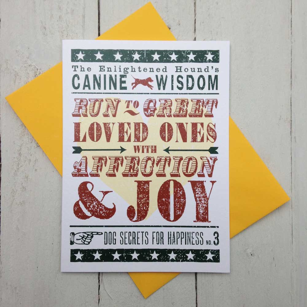 Canine Wisdom Card No.3