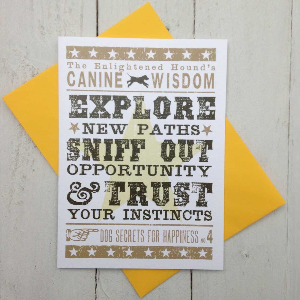 Canine Wisdom Card No.4