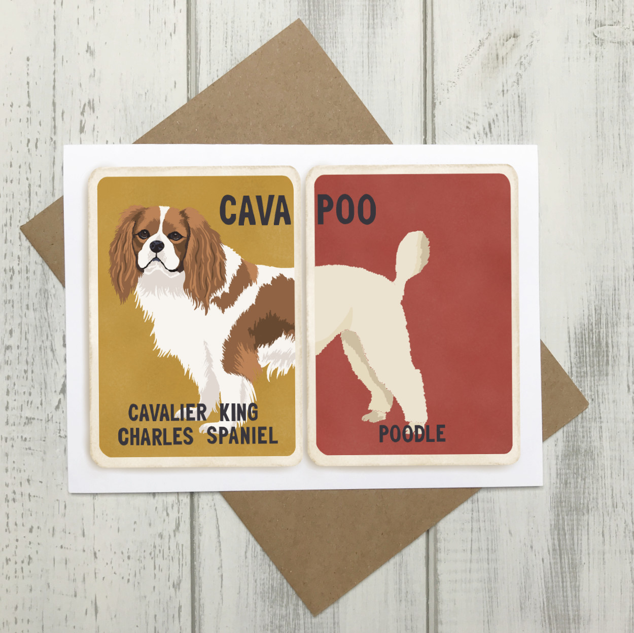 Cavapoo Cross Breed Card | Cavalier King Charles Poodle Cross