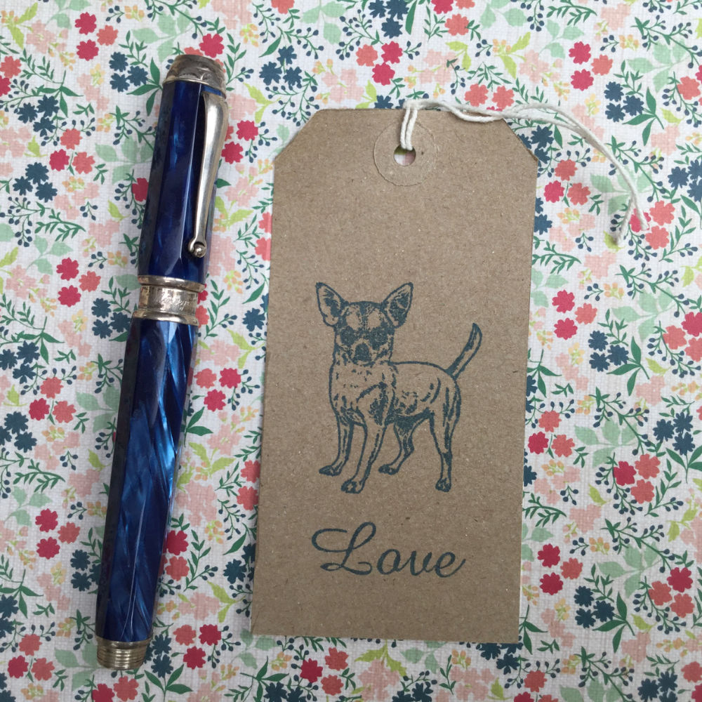 Chihuahua Rubber Stamp | The Enlightened Hound