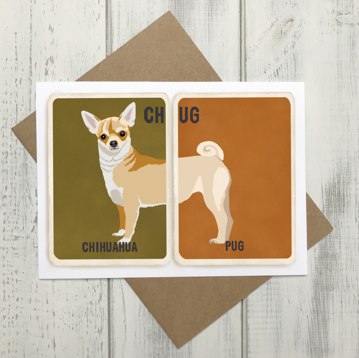 Chug Cross Breed Card | Chihuahua Pug Cross