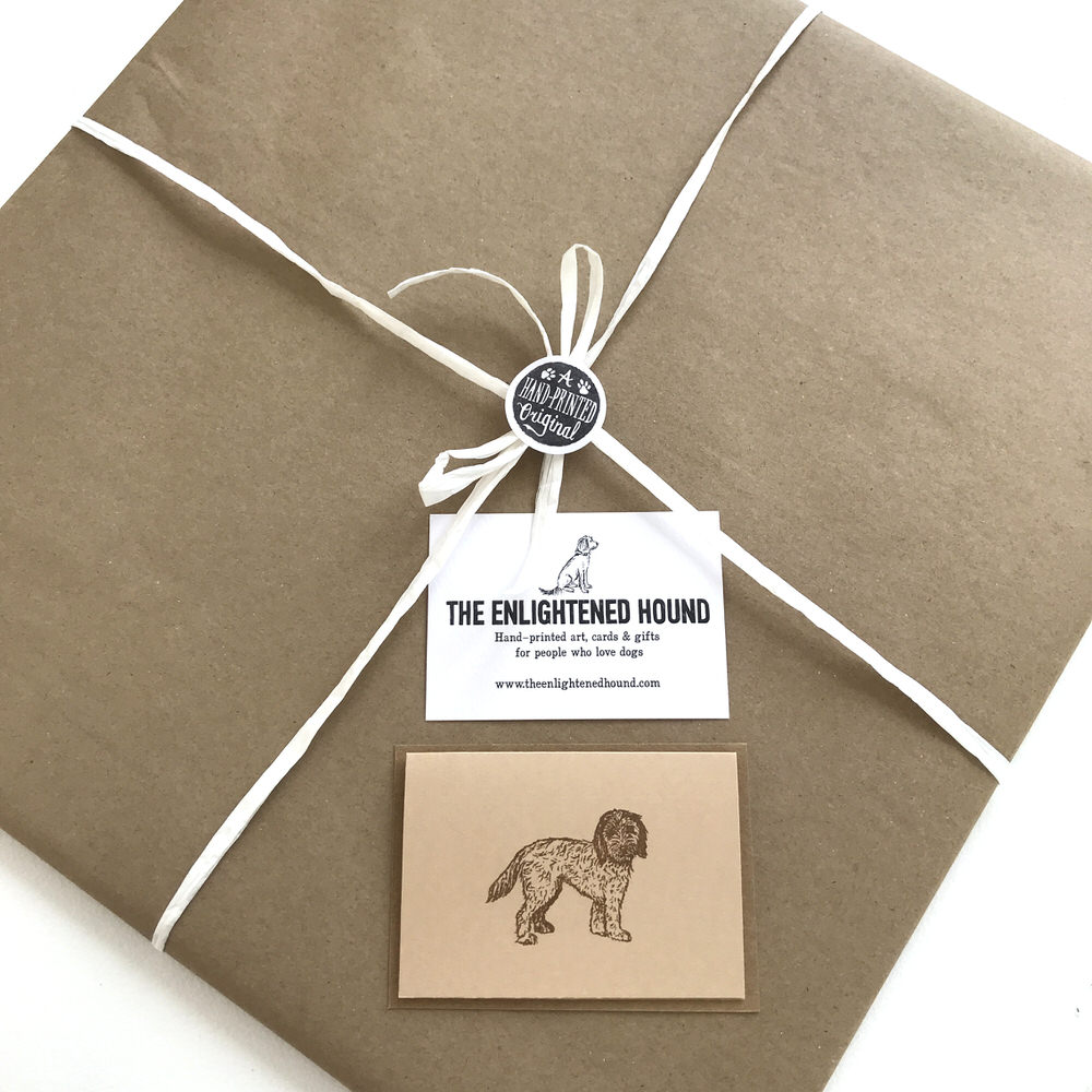 Gift wrapped Cockapoo print | The Enlightened Hound