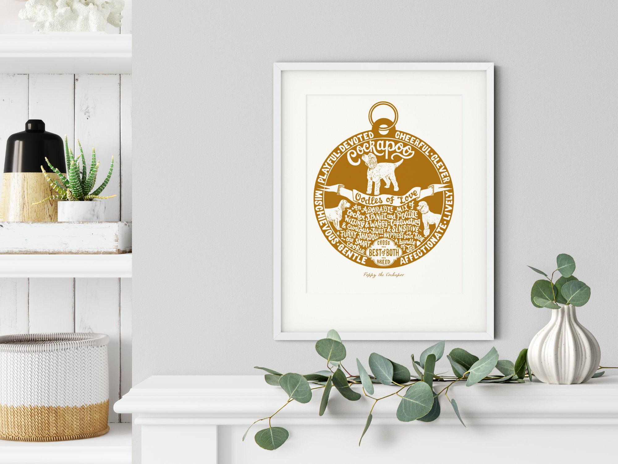 Cockapoo lover dog art gifts by The Enlightened Hound