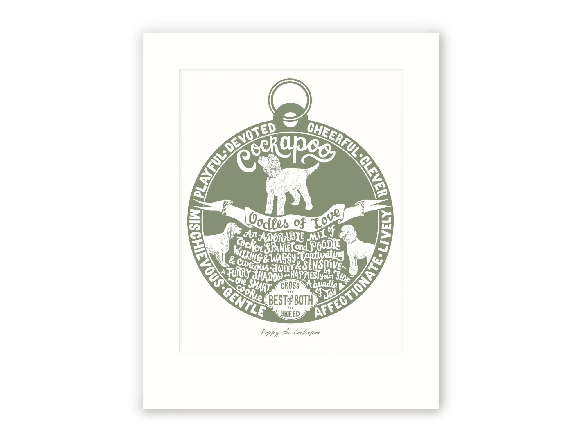 Cockapoo Art Print | The Enlightened Hound
