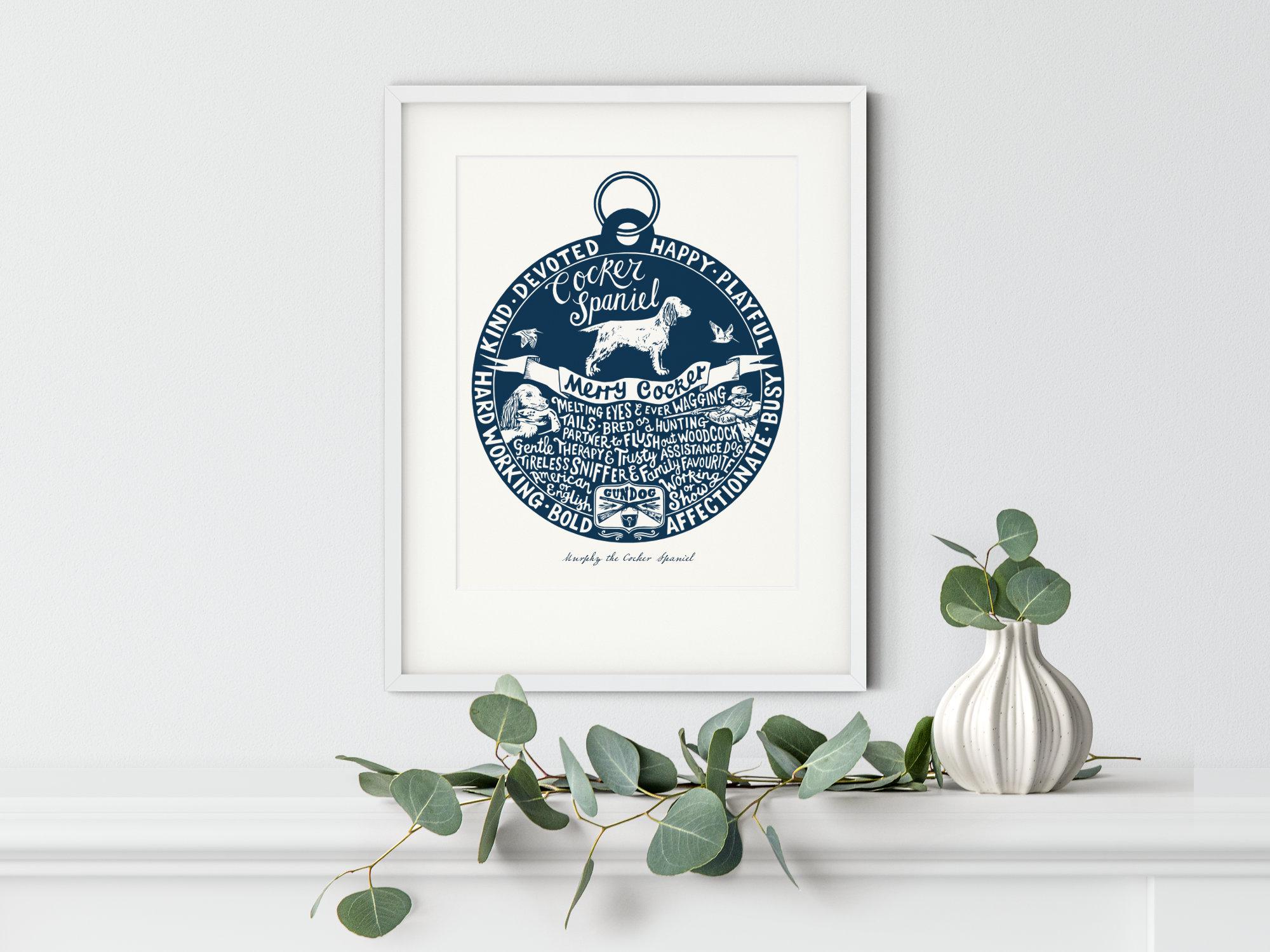 Cocker Spaniel Art Print | The Enlightened Hound