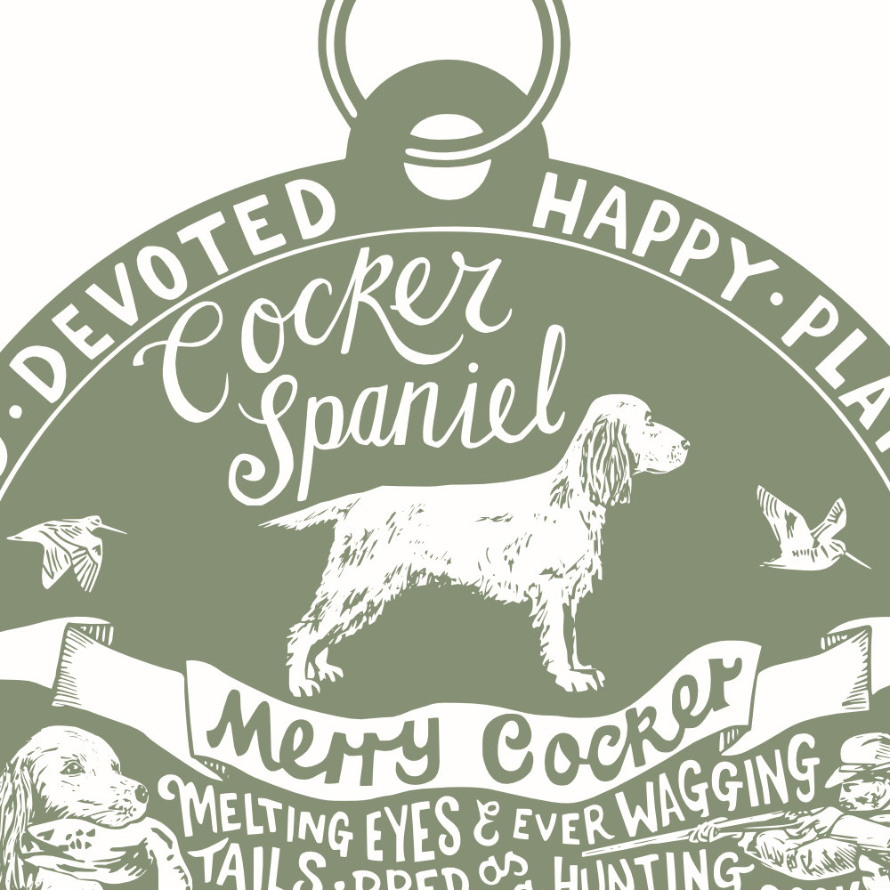 Cocker Spaniel Art Print | The Enlightened Hound