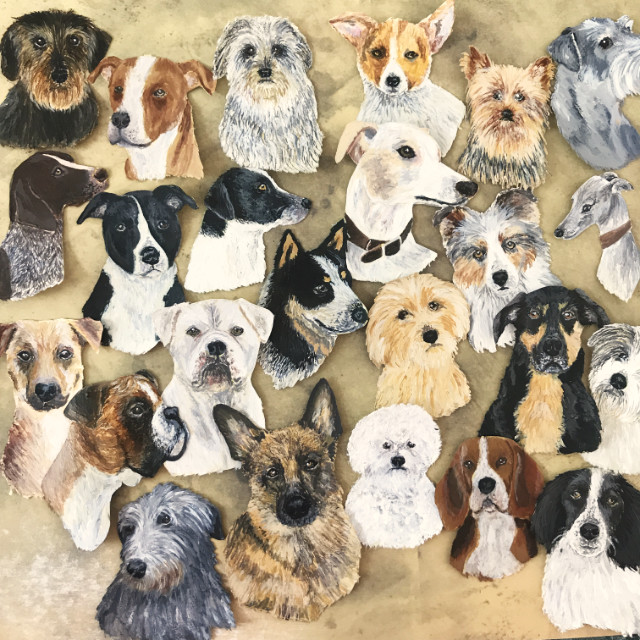 Dog paintings by Debbie Kendall | The Enlightened Hound