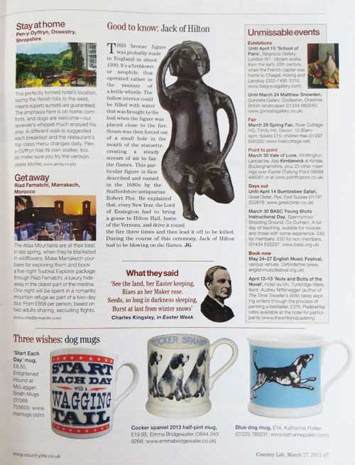 The Enlightenend Hound in Country Life magazine