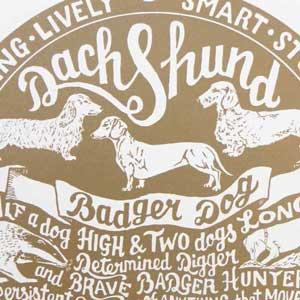 Dachshund Print Detail by Debbie Kendall