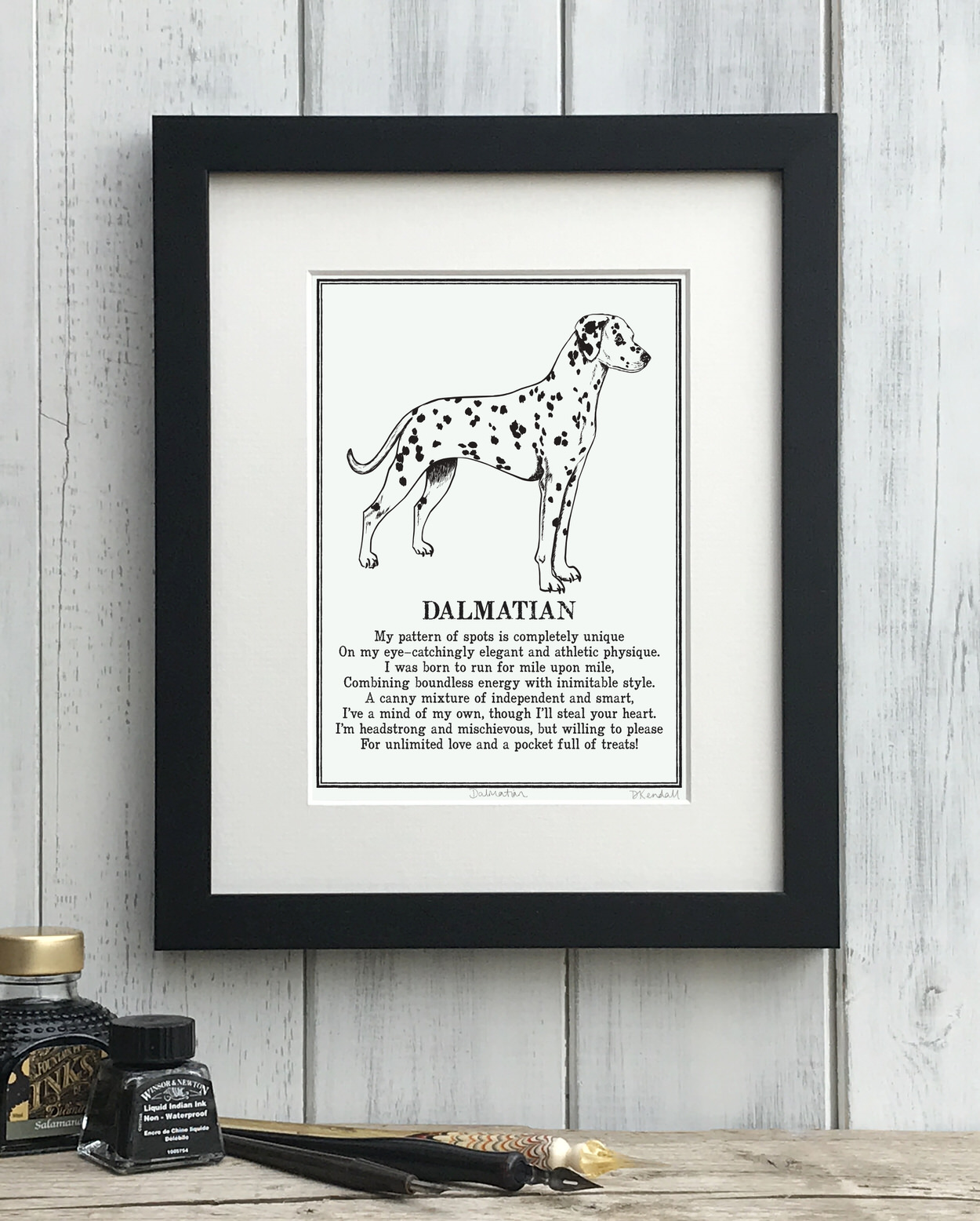 Dalmatian print illustrated poem by The Enlightened Hound
