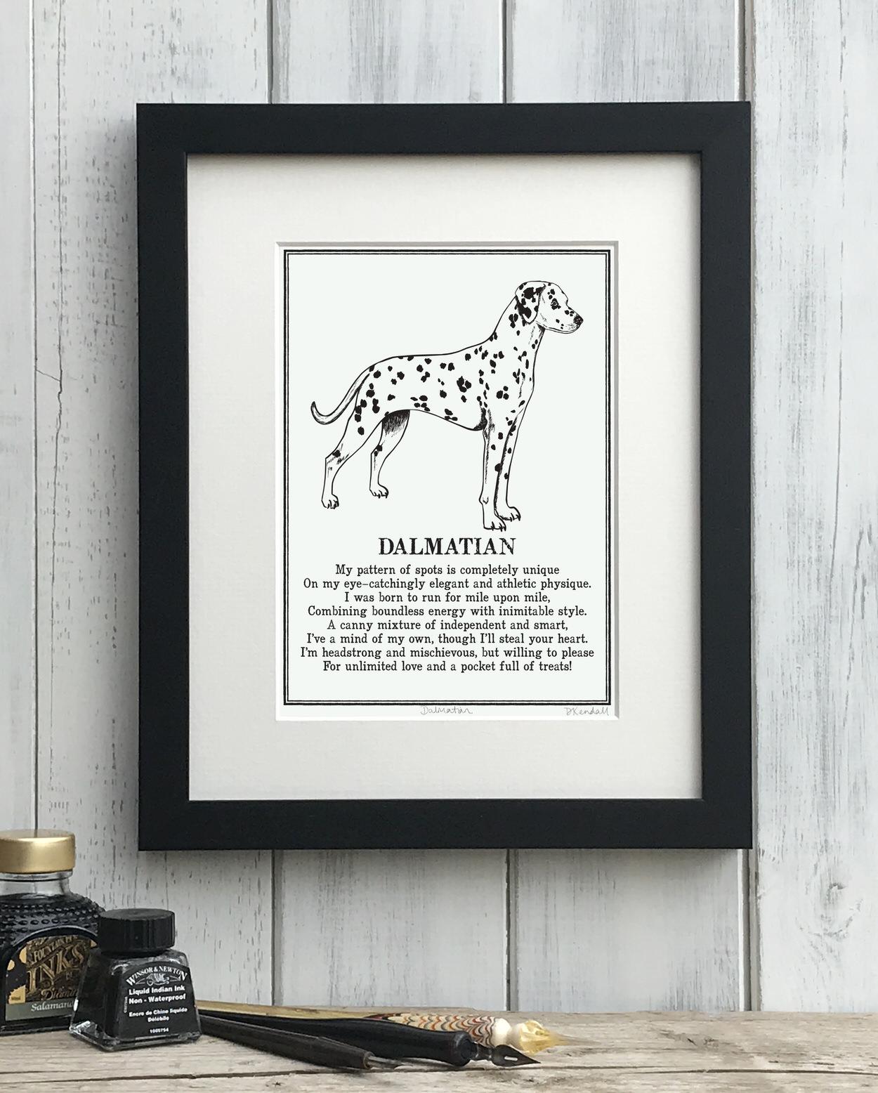 Dalmatian Doggerel Print