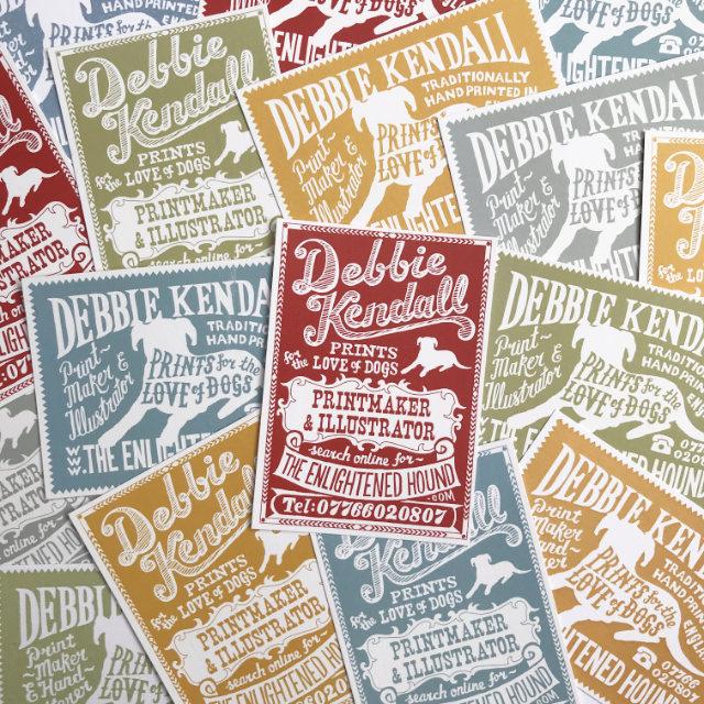 Debbie Kendall Logo Hand Lettered Business Card | The Enlightened Hound