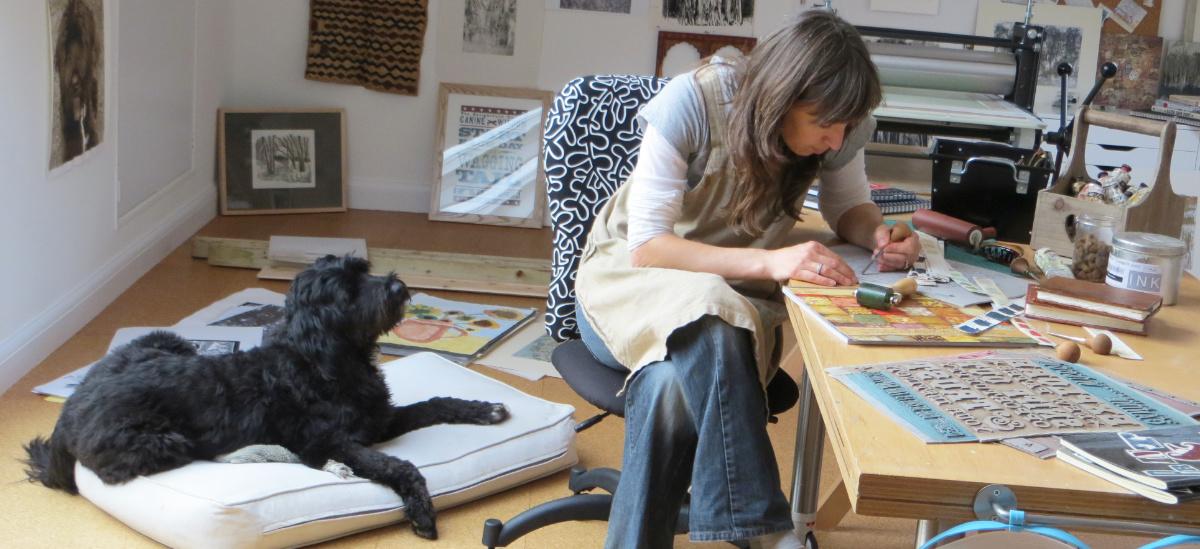 Debbie Kendall Printmaker Illustrator Dog Artist