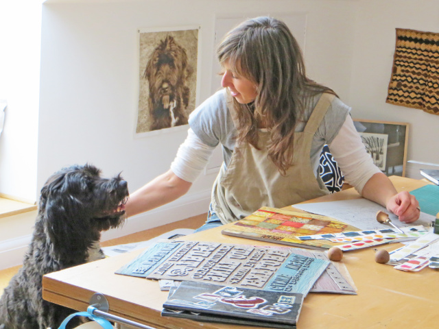 Debbie Kendall & Printmakers Dog