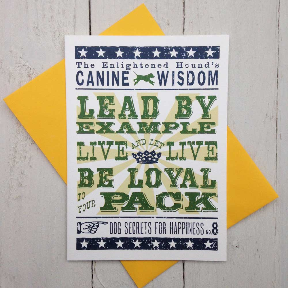 Canine Wisdom Card No.8
