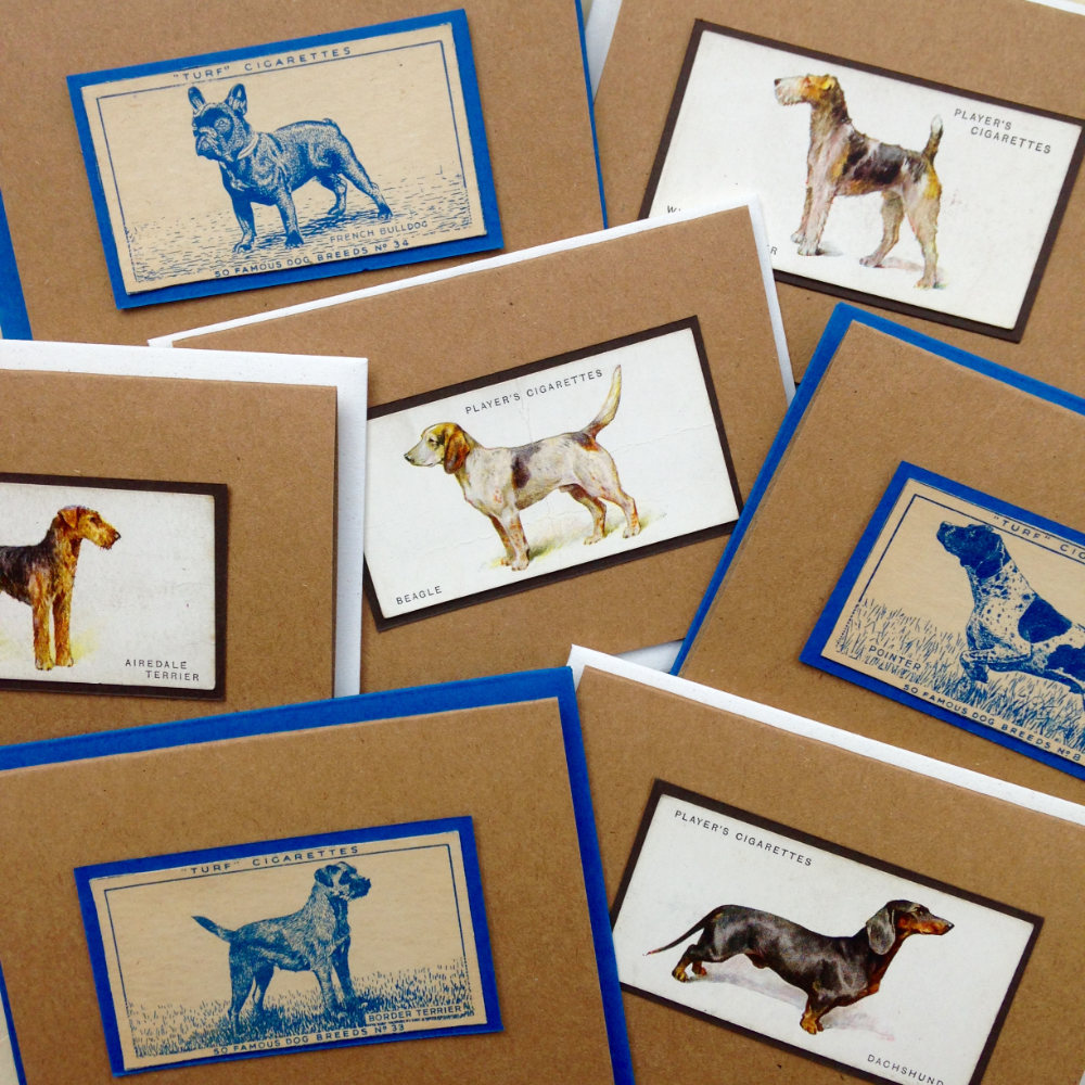 Vintage Dog Breed Greeting Cards Handmade | The Enlightened Hound
