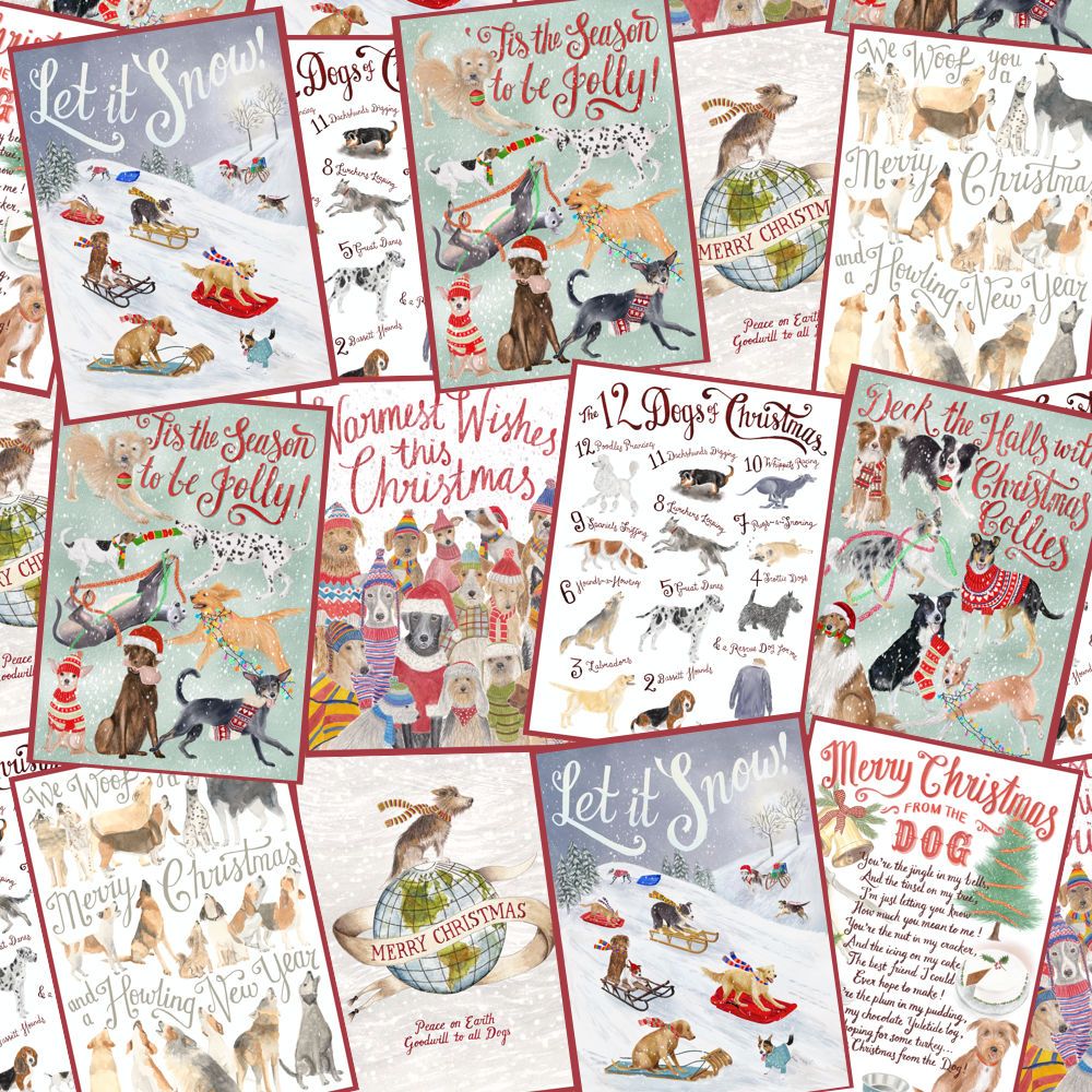 Christmas Cards: MIXED PACK OF 10 (2 of each design)