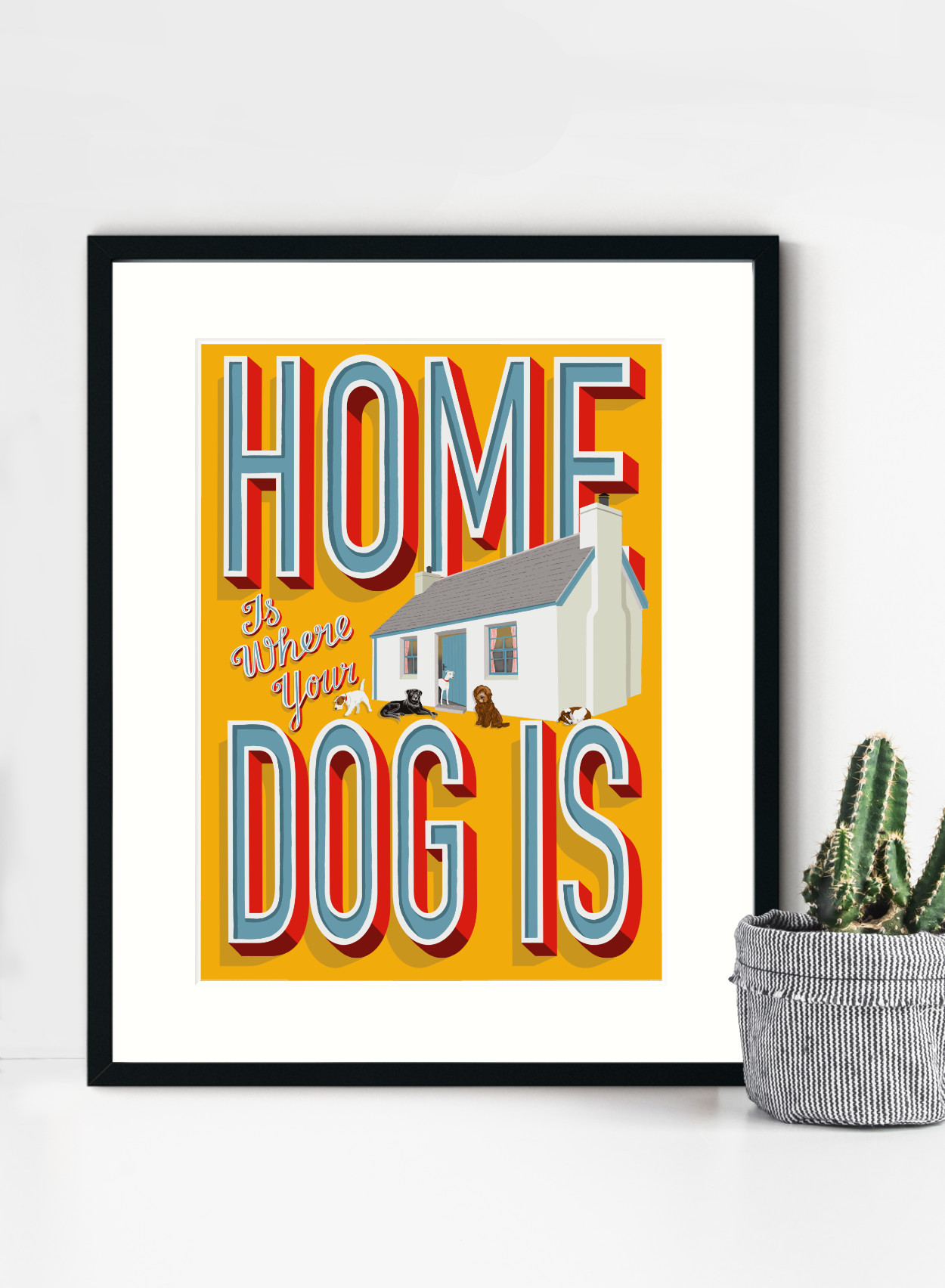 Home Is wHere Your Dog Is Framed Print   The Enlightened Hound