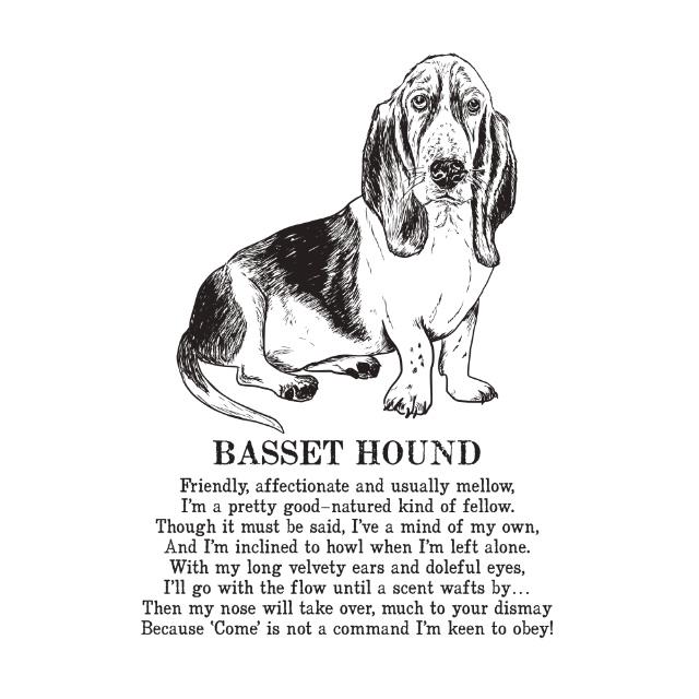 Basset Hound Dog Illustrated Poem Print | The Enlightened Hound