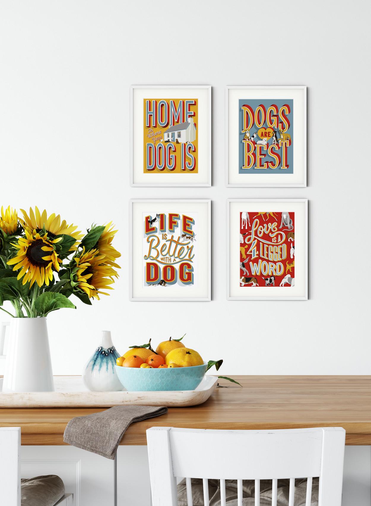 Dog Lover Gift Art Prints | The Enlightened Hound