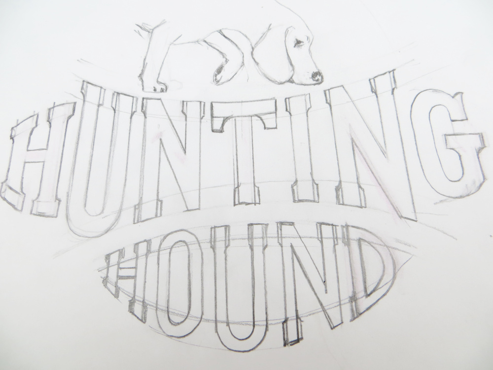 Dog Lettering Sketch Design | The Enlightened Hound