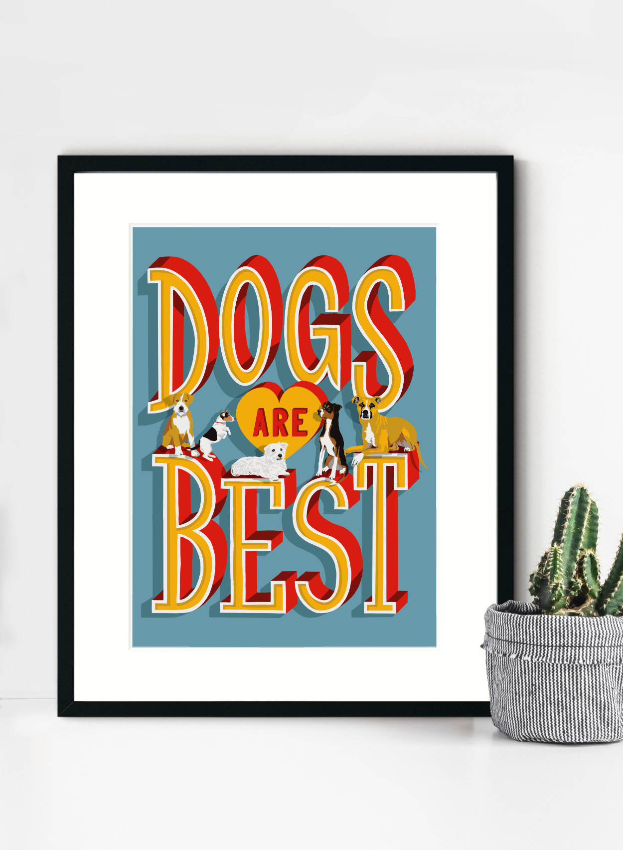 Dogs Are Best Framed Print | The Enlightened Hound