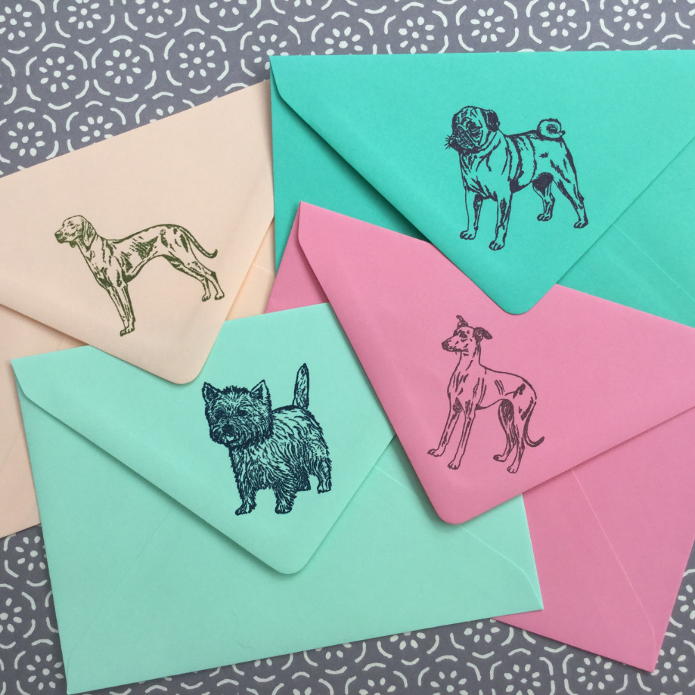 Hand Stamped Dog Stationery | The Enlightened Hound