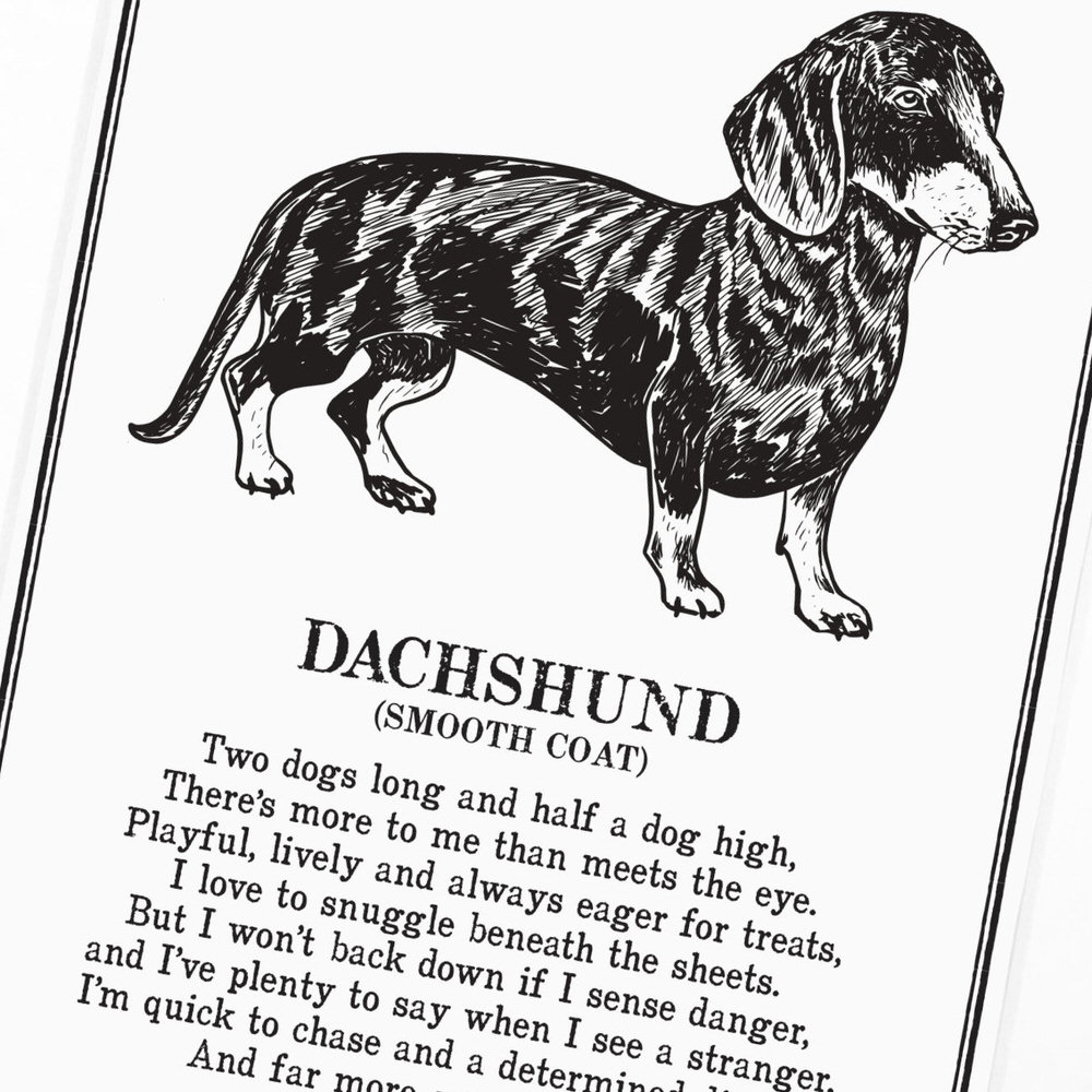 Doggerel Illustrated Poem Prints by The Enlightened Hound