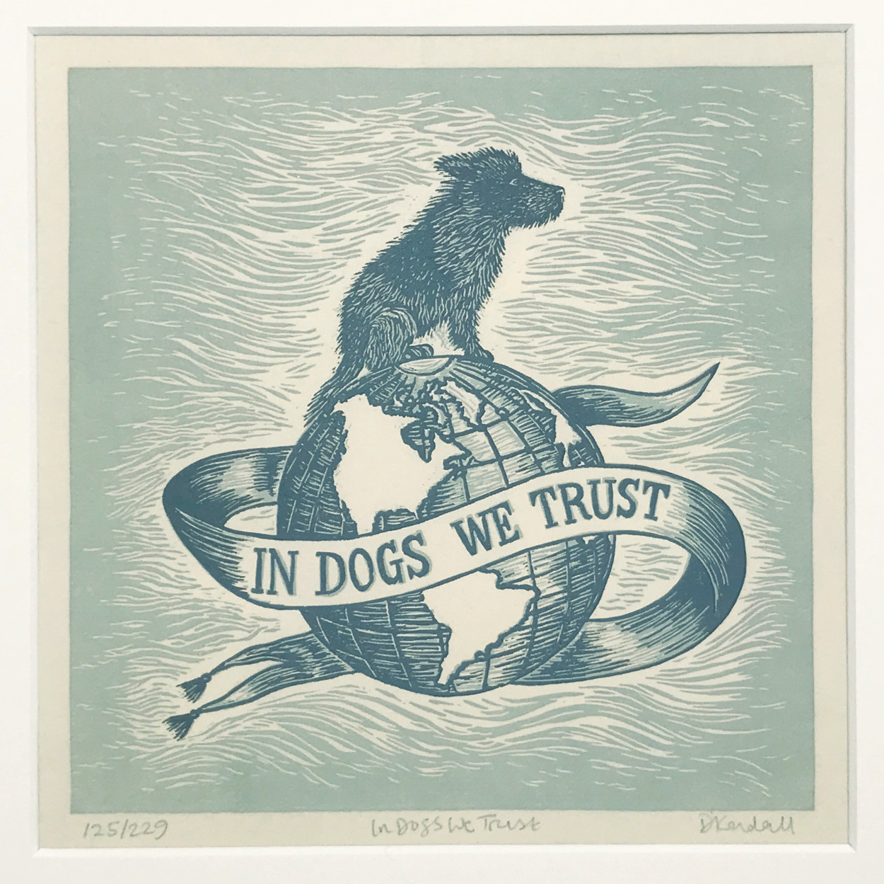In Dogs We Trust Lino Print | The Enlightened Hound
