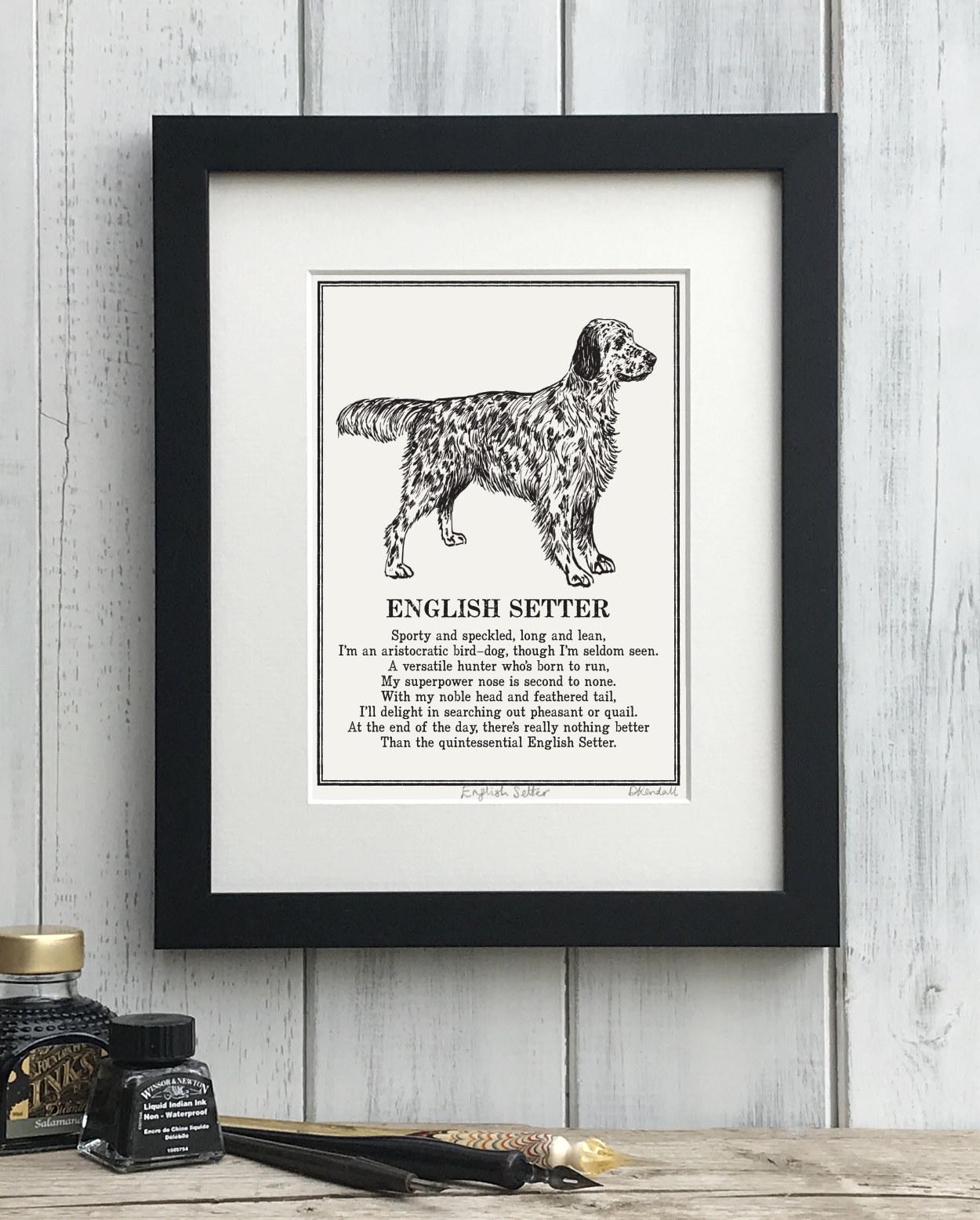 English Setter Print