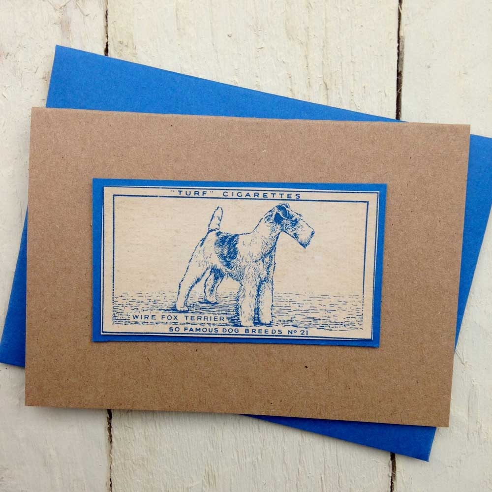 Wire Fox Terrier Greeting Card by The Enlightened Hound