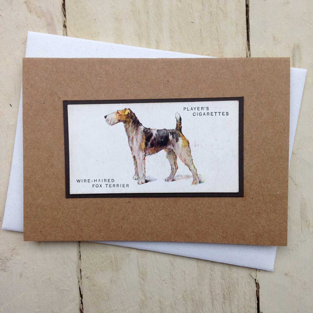 Wire Fox Terrier card - The Enlightened Hound