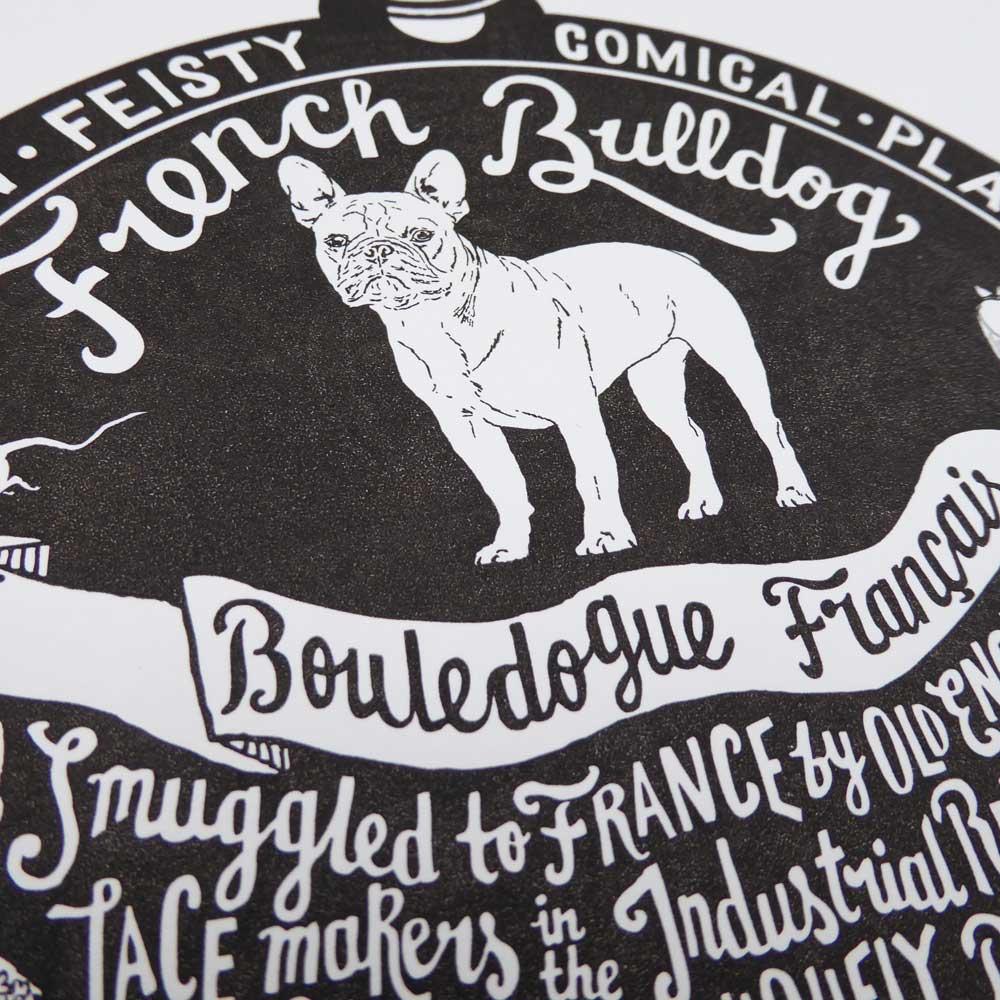 French Bulldog original art prints - Hand lettering & Illustration by Debbie Kendall