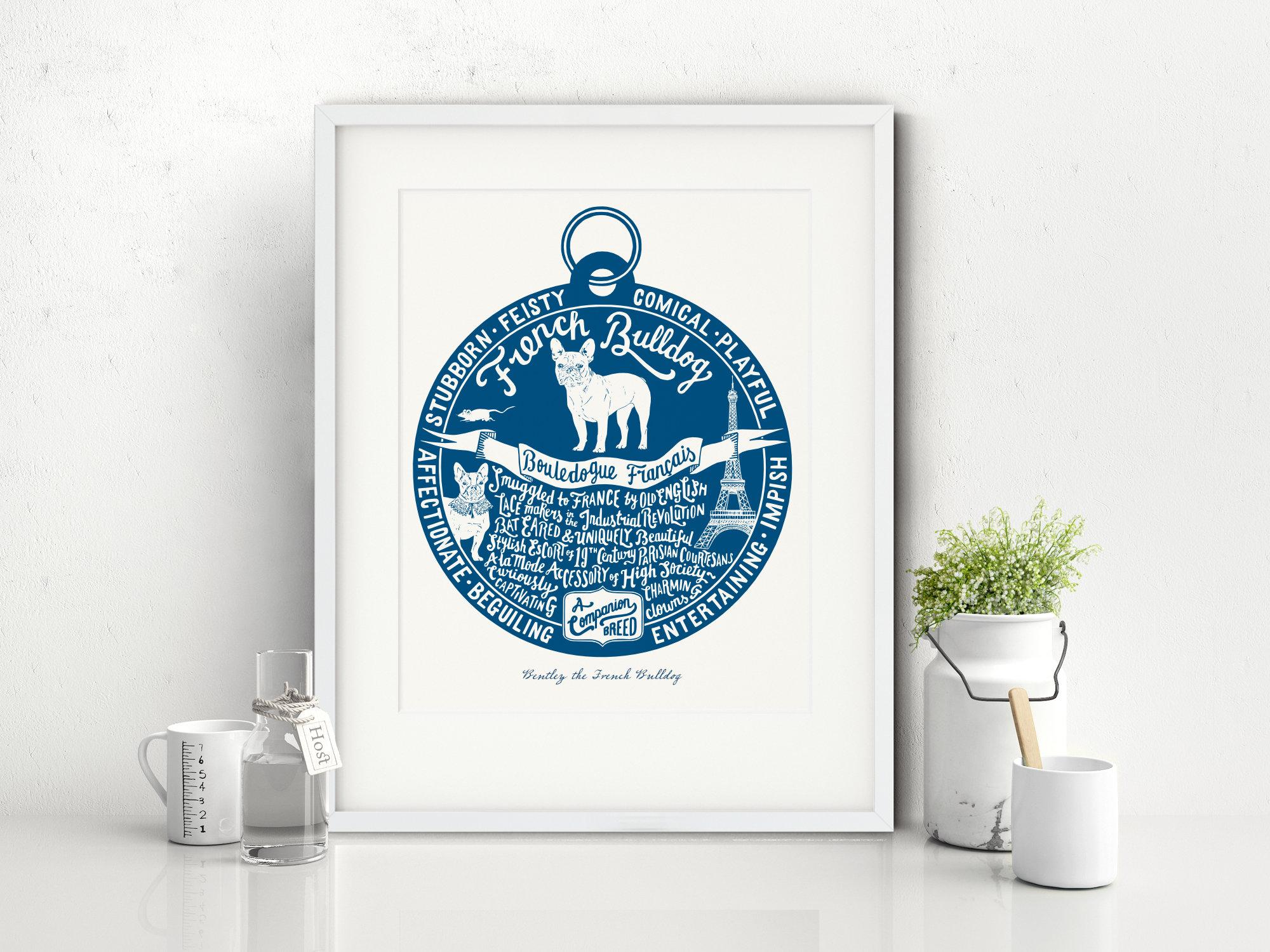 French Bulldog Dog Art Print | The Enlightened Hound