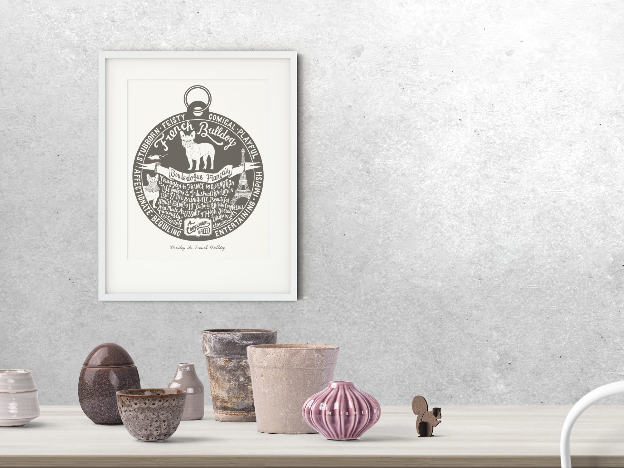 French Bulldog Art Print | The Enlightened Hound