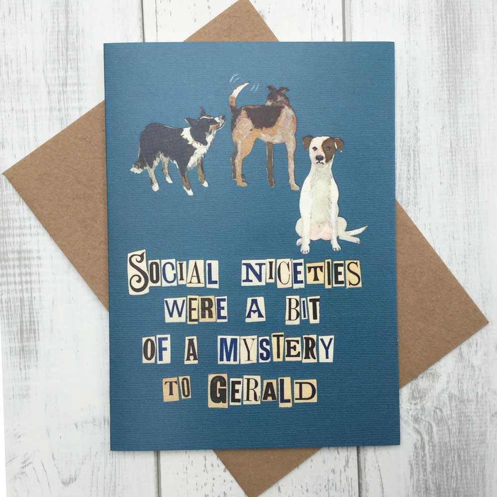 Social Niceties Funny Dog Lover Card