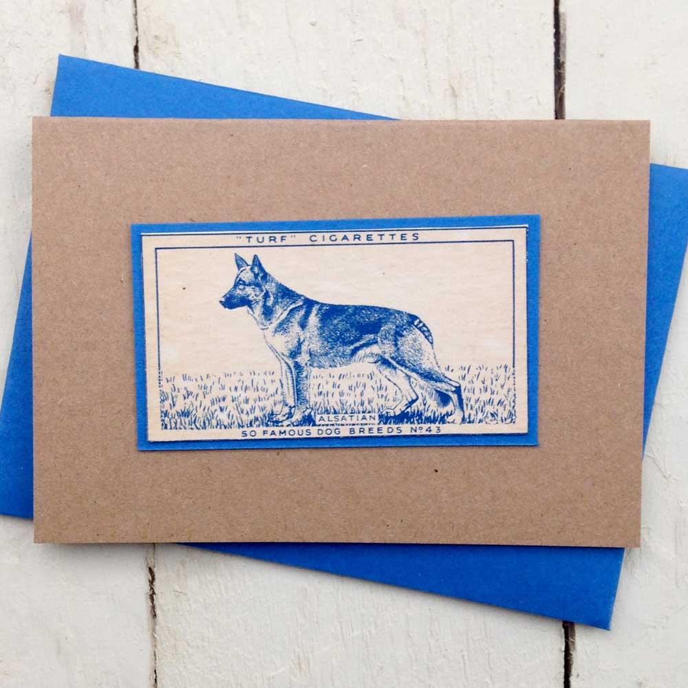 German Shepherd Dog Alsatian greeting card | The Enlightened Hound